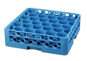 Carlisle RW3014 OptiClean NeWave 30 Compartment Glass Rack with 1 Extender, Blue