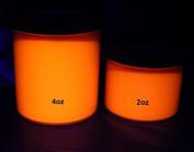 ORANGE UV Neon Fluorescent Washable Finger Paint 60ml pot