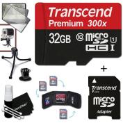 Transcend 32GB MicroSDHC Class10 300x High Speed Memory Card + Adapter KIT for GoPro HERO4 Hero 4, Hero3+ Hero 3+, HERO3 Hero 3, HERO2 Hero 2, Hero 3 Black / Silver Edition, Hero2 Outdoor Edition Hero 960, HD Motorsports HERO, Surf Hero, Hero Naked, Go ..