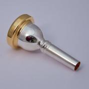 24K Gold Rim & Cup Bach Small Shank Trombone Mouthpiece, 22C