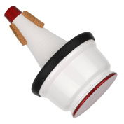 Humes & Berg Stonelined Adjustable Cup Aluminium Trumpet Mute -Red/White