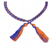 Royal Blue and Orange Graduation Honour Cords