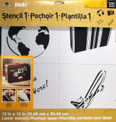 FOLKART Plaid 30990 Travel Set Laser Stencil, 30cm by 30cm
