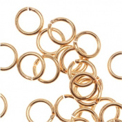 22K Gold Plated Open 4mm Jump Rings 22 Gauge