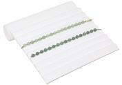 Bracelet Ramp 9 Rib White Jewellery Display