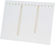 Chain Board 15 Hooks White Leatherette Jewellery Display