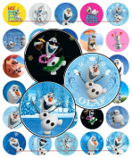 60 Precut 2.5cm Mixed OLAF Bottle Cap Images A
