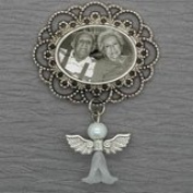 Memorial Photo Charm w/ Angel