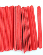 1000 Red Standard Size Wood Craft Sticks Coloured Popsicle Stick