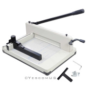 Yescom 400 A4 Sheet Capacity, 30cm Cutting Length Industrial Guillotine Paper Trimmer Cutter Stack Heavy Duty Steel Base