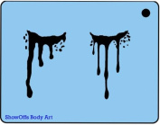 Face Painting Stencil - QuickEZ/Bloody Eyes #51
