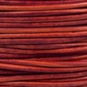 "#405 Natural Red Round Leather Cord 2mm (3/32"") x 10 metres"