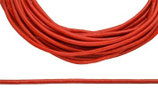 Full-grain leather cord, 2mm round red 5 yard