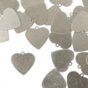 ImpressArt, Heart w/ Ring, 1.6cm , Aluminium Stamping Blanks- 24 pc.