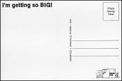 "Post-Pix Peel & Stick Photo Postcards by Romar ""I'm getting so BIG"""