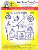 Coast Marine Motifs Aunt Martha's Hot Iron Embroidery Transfer