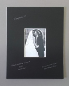 18x24 Black Signature and Autograph Picture Mat for 11x14 picture. Weddings, Baby Showers, Reunions