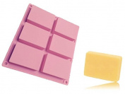 Sapone Soap Mould, Baking Mould Cake Pan, Biscuit Chocolate Mould, 6 Cavities - Homemade Craft