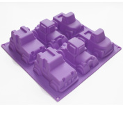 X-Haibei 3d Pickup Truck Car Chocolate Soap Muffin Cupcake Jelly Silicone Mould Pan Mould