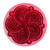 Stained Glass Jewels - 35mm Swirl - Gold/pink