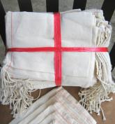 10cm x 15cm Cotton Muslin Drawstring Bags, 100 Pack