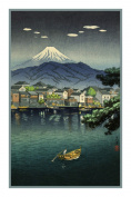 Counted Cross Stitch Chart/Graph of Japanese Artist Takahashi Shotei Numazu Harbour