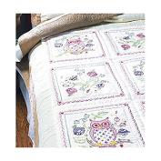 Stamped Embroidery Quilt Blocks 38cm x 38cm 6/Pkg