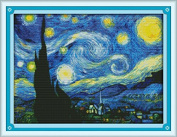 Happy Forever Cross Stitch, scenery, the starry night of Van Gogh