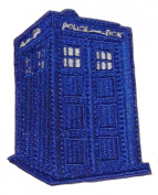 Doctor Who Tardis Police Box 7.6cm Tall Embroidered PATCH
