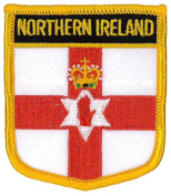 Northern Ireland (Shield) Embroidered Patch 6cm X 7cm
