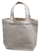 """Small Tote Bag 28cm x 23cm x 3"""", Natural Colour, 100% Cotton Canvas - Pack of 12"""