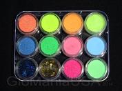 Nail Glitter Deco Set with Visible GID Powder, Stars & Moons