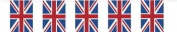 Best of British Union Jack Plastic Flag Bunting 10m