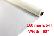 160 Mesh Count(64T) 1 Yard Silk Screen Printing Mesh Fabric White Pack