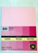 Recollections Cardstock Paper, 22cm X 28cm Pink Buttons - 50 Sheets