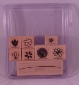 Stampin' Up! SPRINGTIME STEMS Set of 8 Decorative Rubber Stamps Retired