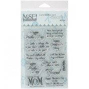 MSE Stamp Sheet, 10cm by 15cm , Mother's Day, Clear
