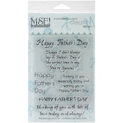 MSE Stamp Sheet, 10cm by 15cm , Father's Day, Clear