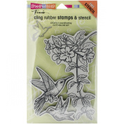 Stampendous Cling Rubber Stamp Set, Hummingbirds