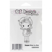 C.C. Designs La Rue Cling Stamp, 8.3cm by 3.2cm , Spring Kiki