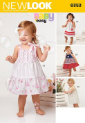 New Look Patterns UN6353A Babies' Dresses and Panties, A