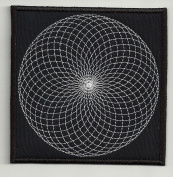 Sacred geometry 8 - Embroidered Patch, 3,2 X 3,2