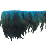Sowder Rooster Hackle Feather Fringe Trim 13cm - 18cm in Width Pack of 5 Yards