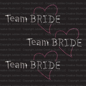 Set of 3 Team Bride Iron On Rhinestone Crystal T-shirt Transfer by Jubilee Rhinestones