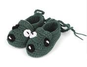 New Baby Socks,FuzzyGreen Cute Puppy Dog Unisex Baby Newborn Infant Handmade Crochet Knitting Toddler Shoes Pre Walker Socks Booties