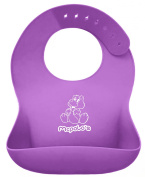"McPolo's Lovely Tinkerbelle iBib LE COTY Series - the ""iPhone"" in Silicone Baby Bib World - Fitting MORE Growing Babies 2 MO to 6 YO Toddlers & PreSchoolers comfortably with Smart Buttons"