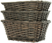 Pam Grace Creations Wicker Basket Set, Let's Play Ball