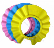 EWIN(R) 4pcs Soft Adjustable Baby Kids Children Shampoo Bath Bathing Shower Cap Hat Wash Hair Shield Hat