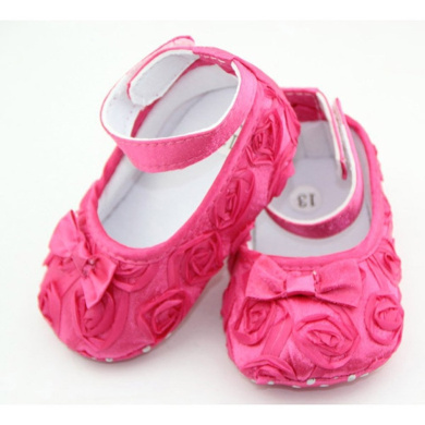 DDU(TM) 1 Pair Hot Pink- Rose Style Soft Warm Princess Shoes for Baby Girl(Size: 12cm)