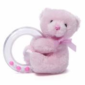 Gund Baby Gund My 1st Teddy Ring Rattle, Pink